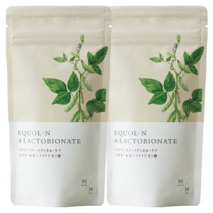 【2個セット】エクオール + ラクトビオン酸 [大豆由来成分 / イソフラボン / 加齢]  多くの...