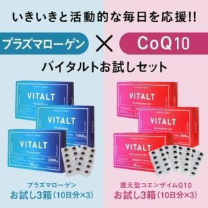 コエンザイムQ10  お試し40粒 プラズマローゲンお試し20粒 各3個セット [ VITALT /...
