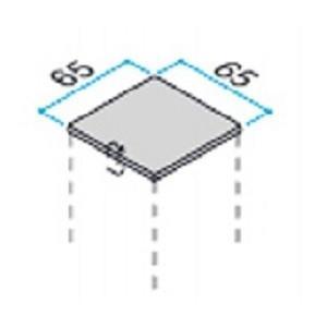 65角のアルミ柱用の樹脂キャップ 2個入り