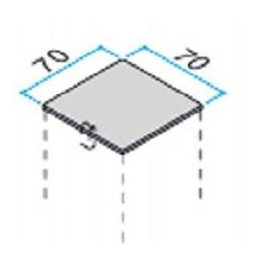 70角のアルミ柱用の樹脂キャップ 2個入り