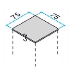 75角のアルミ柱用の樹脂キャップ 2個入り
