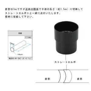 三協アルミ製テラス用の雨樋部品: 直管 L-1.5m×2本とストレ−トエルボ