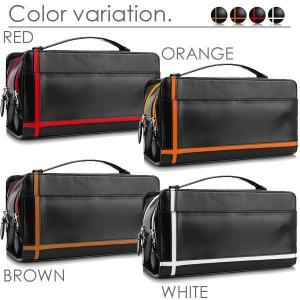 セカンドバッグ メンズ メンズセカンドバッグ 革 鞄 クロスライン ダブルファスナー 4色|el-diablo