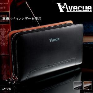 セカンドバッグ メンズ 鞄 本革 スペインレザー ダブルファスナー VACUA VA-001|el-diablo