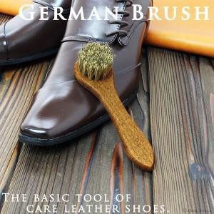靴ブラシ ジャーマンブラシ 靴磨き用 ブラシ 靴磨き 馬毛 COLUMBUS|el-diablo