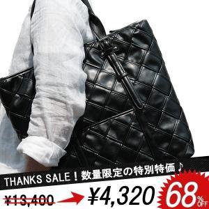 トートバッグ メンズ 鞄 メッシュ 編み込み イントレチャート 大容量 2色|el-diablo