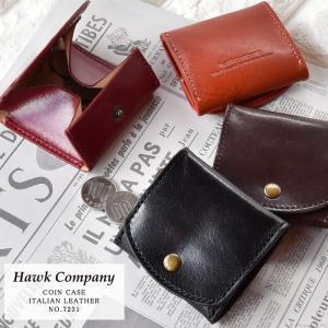 小銭入れ コインケース メンズ 本革 牛革 イタリアンレザー ボックス型小銭入れ Hawk Company 7231 mlb|el-diablo