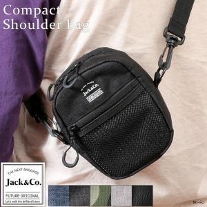 ミニショルダーバッグ メンズ バッグ ミニポーチ メッシュポケットデザイン Jack&Co. BG-057 mlb|el-diablo