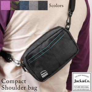 ミニショルダーバッグ メンズ ショルダーバック シンプル クリアポケット付き Jack&Co. BG-059 mlb|el-diablo