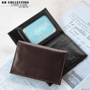 定期入れ パスケース メンズ 牛革 レザー カードケース 黒 茶 KB COLLECTION 96132 mlb el-diablo