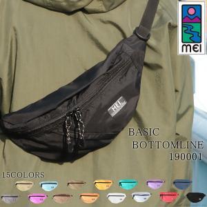 MEI ボディバッグ メンズ ファニーパック リサイクルナイロン 軽量 アウトドア 肩掛け 斜めがけ ウエストバッグ MEI-190001 mlb|el-diablo