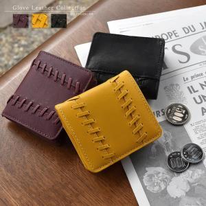 小銭入れ メンズ 本革 グラブレザー グラブモチーフデザイン ボックス型 コインケース MIZUNO 1GJYG06500|el-diablo
