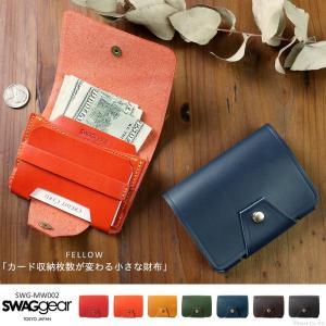 財布 メンズ 折り財布 ミニ財布 本革 イタリアンレザー 日本製 カードケース SWAGgear FELLOW mw002|el-diablo