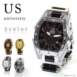 腕時計 メンズ リストウォッチ 時計 クォーツ カレンダー付き 3気圧防水 UNIVERSITY US203|el-diablo