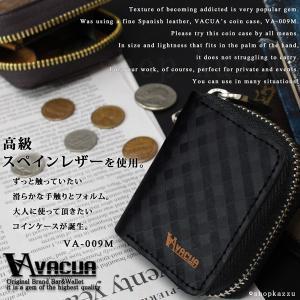 コインケース 小銭入れ メンズ 革 スペインレザー メッシュ ラウンドファスナー VACUA VA-009M|el-diablo