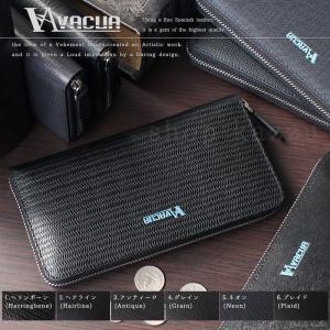 財布 長財布 メンズ サイフ 革 スペインレザー ラウンドファスナー 大容量 黒 ブラック 6デザイン VACUA VA-014BS|el-diablo