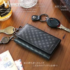 キーケース メンズ 革 スペインレザー 軽量 メッシュ 6連 キーカバー 黒 VACUA VA-015|el-diablo