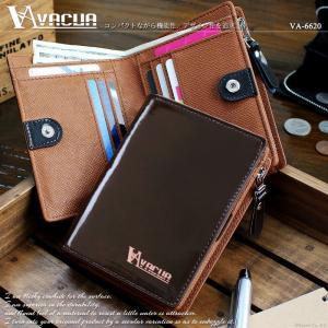 財布 二つ折り メンズ 二つ折り財布 本革 牛革 L字ファスナー 大容量 VACUA VA-6620 *|el-diablo
