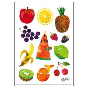 エリック・カール(ERIC CARLE)B4サイズ・ポスター『Caterpillar With Fruits / はらぺこあおむし』|el-market