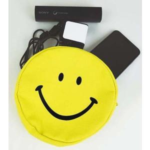 スマイル ラウンドポーチ Lサイズ(SMILE ROUND POUCH)【EL COMMUN / エル・コミューン】 el-market