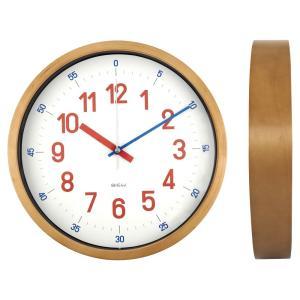 バウハウス『Reross Quadratic』復刻フォント・ウォールクロック / 壁掛け時計(レッド) el-market