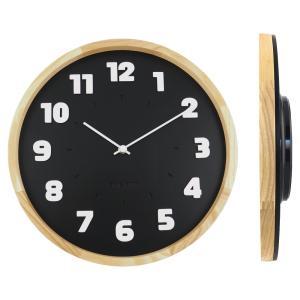バウハウス『Alfarn』復刻フォント・ウォールクロック / 壁掛け時計(ブラック) el-market