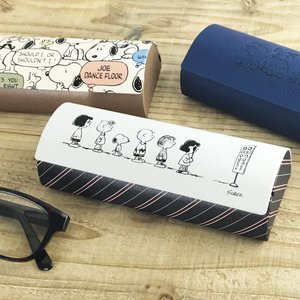 スヌーピー クロス付き メガネケース(ブラザー/オシャベリ/視力検査)【SNOOPY PEANUTS めがね 眼鏡 ハードケース】|el-market