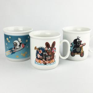 クルテク マグカップ Aタイプ(ボート/ロケット/スクーター)【チェコ製 コーヒーカップ 小さめ 食器 陶磁器 もぐら 東欧 krtek】|el-market