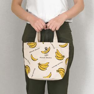 AND PACKABLE ミニトートバッグ【普段使い ランチバッグ サブバッグ マチ有り バナナ ペンギン ピッグ オハイオ ライム】|el-market