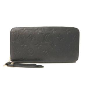 ルイ・ヴィトン(Louis Vuitton) モノグラムアンプラント M61864 ジッピー・ウォレット レディース ノワール 長財布(二つ折り) elady-ys