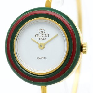 【GUCCI】グッチ チェンジベゼル ステンレススチール クォーツ レディース 時計【中古】|elady-ys