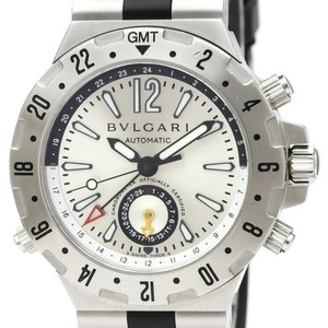 6e86b893dab4 ブルガリ ディアゴノ プロフェッショナル GMT ステンレススチール ラバー 自動巻き メンズ 時計 GMT40S 【中古】