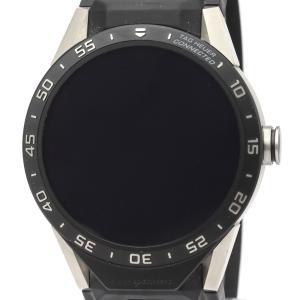 タグホイヤー  コネクテッド スマートウォッチ チタン ラバー クォーツ メンズ 時計 SAR8A80【中古】 elady-ys