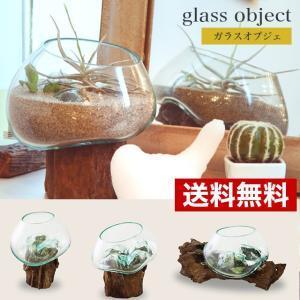 流木にガラスを垂らし成型したガラスのオブジェです。 世界に1つしかない個性的な表情をお楽しいただけま...