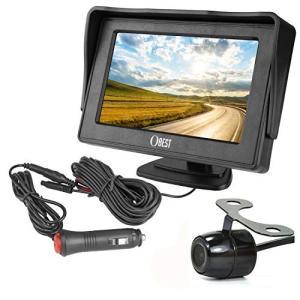 OBEST バックカメラ モニターセット 4.3インチLCDモニター バックカメラセット ケーブル一...