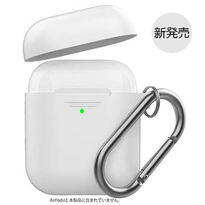 AhaStyle AirPods ケース AirPods第2世代と第1世代に適用 (前のLEDライト...