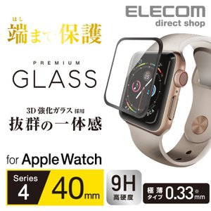 【特徴】 ●なめらかな指滑りを実現するリアルガラスを採用。Apple Watch Series 4 ...