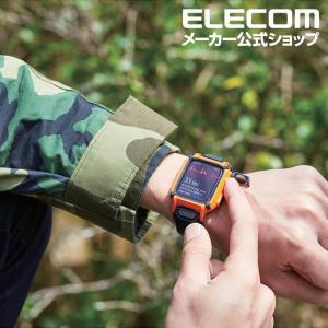 230ca5bb81 ... エレコム Apple Watch 用 バンド ケース series4 44mm アウトドア レジャー アップル ウォッチ シリーズ4 ベルト  保護 ...