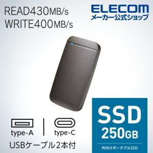 USB Type-Cケーブル付き 外付け ポータブル SSD USB3.2 Gen1 対応 TLC搭...