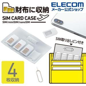 エレコム SIMカードケース カードサイズ で財布のポケットにも収納できる SIMカード miniS...