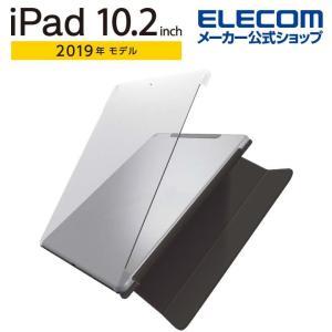 エレコム iPad 10.2 インチ 用 シェル ケース スマートカバー対応 2019年 モデル シ...