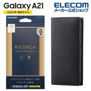 Galaxy A21 用 ソフト レザーケース イタリアン(Coronet) ギャラクシー A21 ...