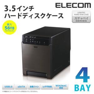 USB3.0+eSATA接続対応 4BAY 3.5インチ ハ...