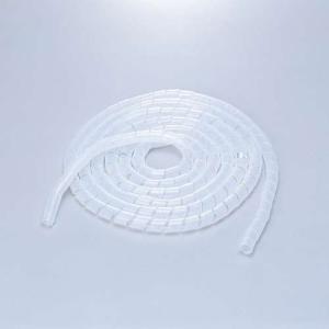 エレコム スパイラルチューブ ケーブルスパイラルチューブ(内径20mm)  クリアー 5m┃BST-...