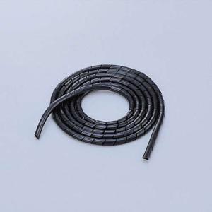 エレコム スパイラルチューブ ケーブルスパイラルチューブ(内径6mm)  ブラック 2m┃BST-6...