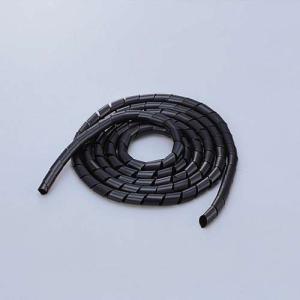 エレコム スパイラルチューブ ケーブルスパイラルチューブ(内径9mm)  ブラック 2m┃BST-9...
