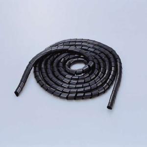 エレコム スパイラルチューブ ケーブルスパイラルチューブ(内径20mm)  ブラック 5m┃BST-...