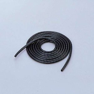 エレコム スパイラルチューブ ケーブルスパイラルチューブ(内径4mm)  ブラック 2m┃BST-4...