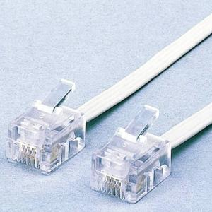 電話線 スリム モジュラーケーブル(4芯) ホワイト 10m ┃MJ-10WH┃ エレコム|elecom|02