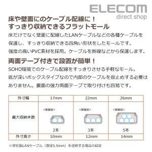 配線モール フラットモール ホワイト 幅17.0mm ┃LD-GAF1/WH┃ エレコム elecom 02